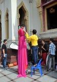 Bangkok, Thailand: Fashion Shoot at Wat Tramit Stock Photography