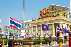 Bangkok, Thailand. - Feb 09 2015: Ministry of Defence building i Royalty Free Stock Images