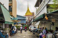 BANGKOK, THAILAND - 2. Februar 2019 - die Straße von Bangkok-Stadt, Thailand stockfotos