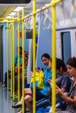 Bangkok, Thailand - 21. Februar 2017: Passagier im Blockwagen von Lizenzfreies Stockfoto