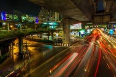 Bangkok. Thailand 24 Februari: Één van het bezigst het winkelen Royalty-vrije Stock Fotografie