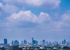 Bangkok, Thailand - 13 Februari, de Stadscityscape van de binnenstad van Bangkok van 2018 Royalty-vrije Stock Afbeelding