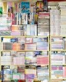 BANGKOK THAILAND - 19 FEBRUARI 2017: Den yttre sikten av boken shoppar Arkivbild