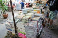 BANGKOK THAILAND - 19 FEBRUARI 2017: Den yttre sikten av boken shoppar Arkivbilder