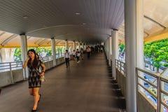 Bangkok, Thailand - Februari 28, 2017: Passagiers die in S werkt Royalty-vrije Stock Foto's