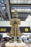BANGKOK Thailand - Februari 10, 2016; Suvarnabhumi Internationa royaltyfria bilder