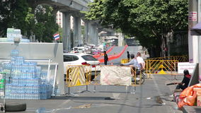 BANGKOK,THAILAND - FEBRUARY 2014: Bangkok shutdown protests stock video