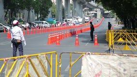 BANGKOK,THAILAND - FEBRUARY 2014: Bangkok shutdown protests stock footage