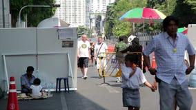 BANGKOK,THAILAND - FEBRUARY 2014: Bangkok shutdown protests stock video footage