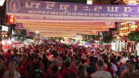 BANGKOK,THAILAND - FEBRUARY 2014: chinese new year celebration stock video