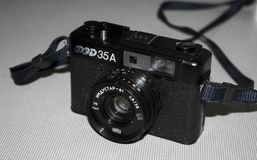 Fed 35a. BANGKOK, THAILAND - FEBRUARY 17: A Fed 35A vintage Russian film camera on February 17, 2013 in Bangkok, Thailand. Film photography has become stock photos