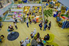 BANGKOK, THAILAND, FEBRUARY 02, 2018: Indoor view of unidentified people inside of Siam Paragon shopping mall in Bangkok. Thailand Stock Photography