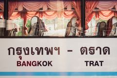 Bangkok - Trat bus royalty free stock images