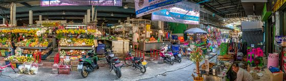 GKOK, THAILAND - FEBRUARY 06: Local fresh food merchants conduct business as usual in Khlong Khwang Market on February 06, 2019 in royalty free stock photo