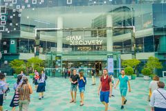 BANGKOK, THAILAND, FEBRUARY 02, 2018: Outdoor view of unidentified turists at Siam Paragon shopping mall in Bangkok. Thailand Stock Photo