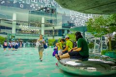 BANGKOK, THAILAND, FEBRUARY 02, 2018: Outdoor view of unidentified turists at Siam Paragon shopping mall in Bangkok. Thailand Royalty Free Stock Photos
