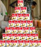 BANGKOK,THAILAND - 19 FEBRUARY 2017 : Sweetened condensed milk C. Arnation for sweet beverage at Jatujak weekend market Royalty Free Stock Image