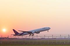 BANGKOK THAILAND - FEBRUARY 11 : thai airway plant taking off fr Stock Photos
