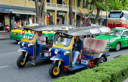 Different taxis in Bangkok Royalty Free Stock Photo