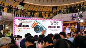 BANGKOK, THAILAND - FEBRUARY 20, 2018: Unveil event of Fujifilm. X-A5, the latest mirrorless camera X-A Series for entry customer segment from Fujifilm that has stock images