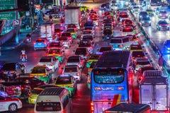 Bangkok, Thailand - February 21, 2017: View of long traffic jam Stock Photo