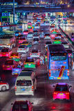 Bangkok, Thailand - February 21, 2017: View of long traffic jam Stock Photos