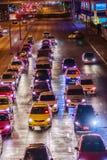 Bangkok, Thailand - February 21, 2017: View of long traffic jam Royalty Free Stock Photo
