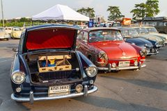 Vintage VW Type 3 owners gathering at volkswagen club meeting. Bangkok, Thailand - February 9, 2019: Vintage VW Type 3 owners gathering at volkswagen club royalty free stock photography