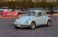 Volkswagen beetle driver race gymkhana stock photos