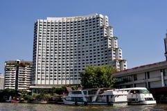 Bangkok Thailand: Fem-Stjärna Shangri-La hotell Royaltyfri Fotografi