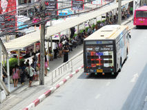 Bangkok-Thailand : Flexible traffic conditions on  six lane stre Stock Photos