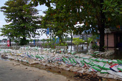 Bangkok Thailand ,flood protect Royalty Free Stock Photography