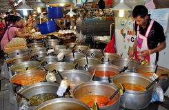 Bangkok, Thailand: Food at Chatuchak Market Hall Stock Photos