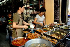 Bangkok, Thailand: Food Vendors in Chinatown Royalty Free Stock Image