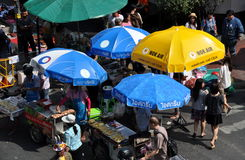 Bangkok, Thailand: Food Vendors on Silom Road Stock Photos