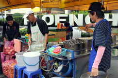 Bangkok, Thailand: Food Vendors on Sukhamvit Road Royalty Free Stock Image