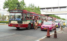Bangkok-Thailand: Free open air bus. Stock Images