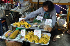 Bangkok, Thailand: Fruit Seller on Street Royalty Free Stock Photo