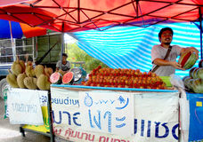 Bangkok-Thailand:   Fruits Stall everywhere in Thailand. Royalty Free Stock Photo