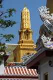 Bangkok, Thailand: Gilded Temple Prang Royalty Free Stock Photo