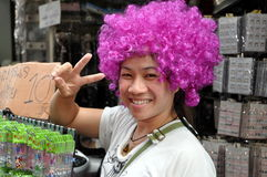 Bangkok, Thailand: Girl with Purple Wig Stock Photography