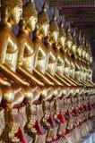 Bangkok (Thailand), Golden Buddhas Stock Images