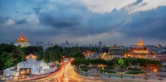 Bangkok Thailand gränsmärke Royaltyfria Bilder