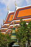 Bangkok, Thailand: Grand Palace Gabled Roofs Royalty Free Stock Images