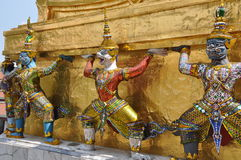 Bangkok, Thailand: Grand Palace Khong Dancers Stock Images