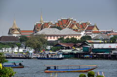 Bangkok, Thailand: Grand Palace & River Royalty Free Stock Image