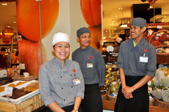 Bangkok, Thailand: Het Personeel van de Zaal van het voedsel Royalty-vrije Stock Fotografie