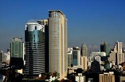 Bangkok, Thailand: High Rise Office Towers & Hotel Royalty Free Stock Photos