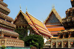 Bangkok, Thailand: Historic Wat Pho. Historic Wat Pho, Bangkok, Thailand's oldest temple, is a treasure trove of architectural Thai style with an impressive Royalty Free Stock Photos