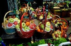 Free Bangkok, Thailand: Holiday Fruit Gift Baskets Stock Photos - 36236813